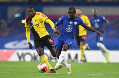 N'Golo Kante in action for Chelsea