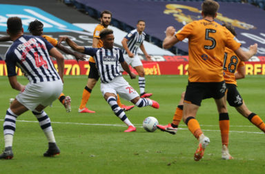 Reported Celtic target Grady Diangana in action for West Brom