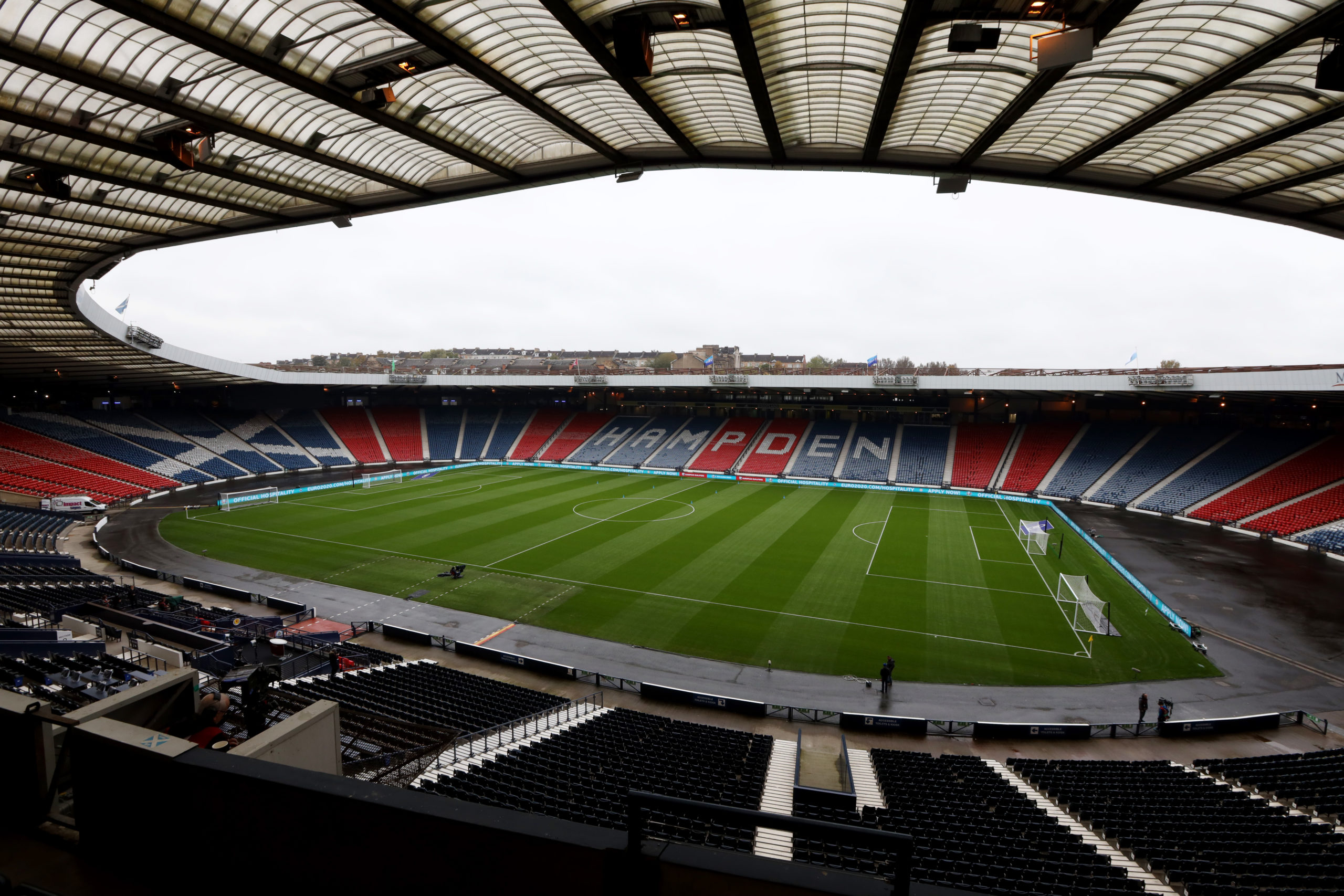 Hampden is scheduled to be empty for the Scottish Cup semis