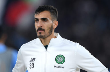 Hatem Abd Elhamed before a Celtic match