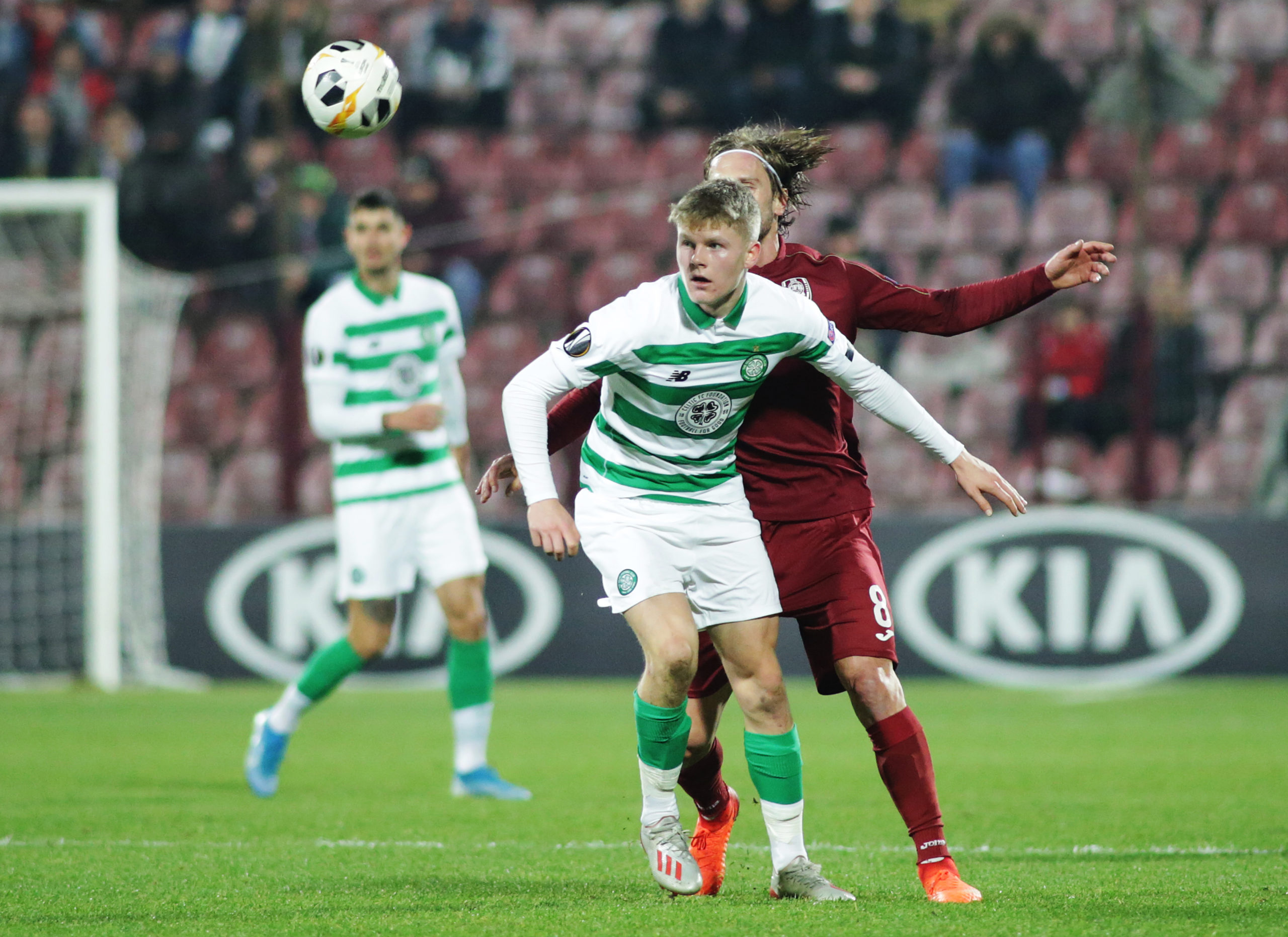 Scott Robertson making his Celtic debut v Cluj