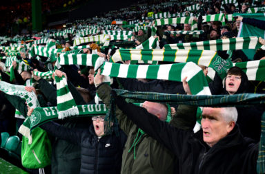 The Celtic support in full voice