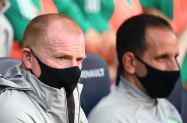 Celtic boss Neil Lennon in France