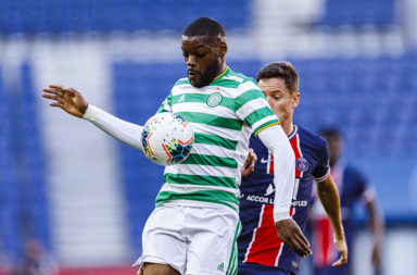 Olivier Ntcham in action for Celtic
