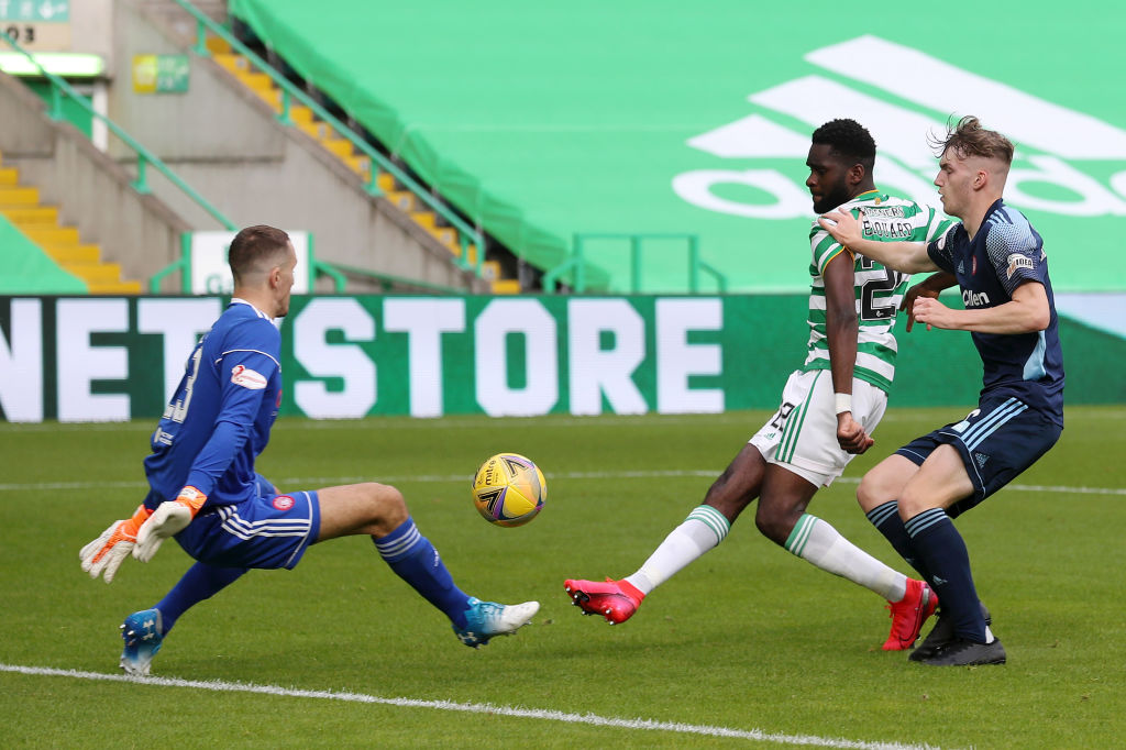 Odsonne Edouard scores for Celtic against Hamilton