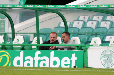 Neil Lennon and John Kennedy