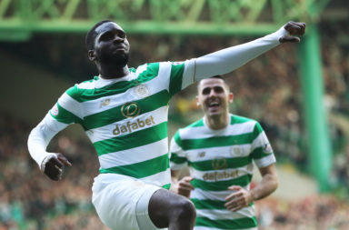 Odsonne Edouard celebrates scoring against Celtic