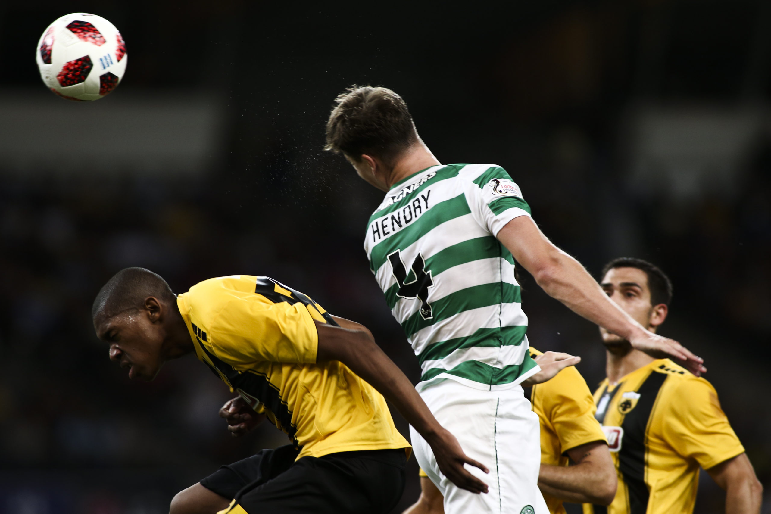 Jack Hendry in action for Celtic