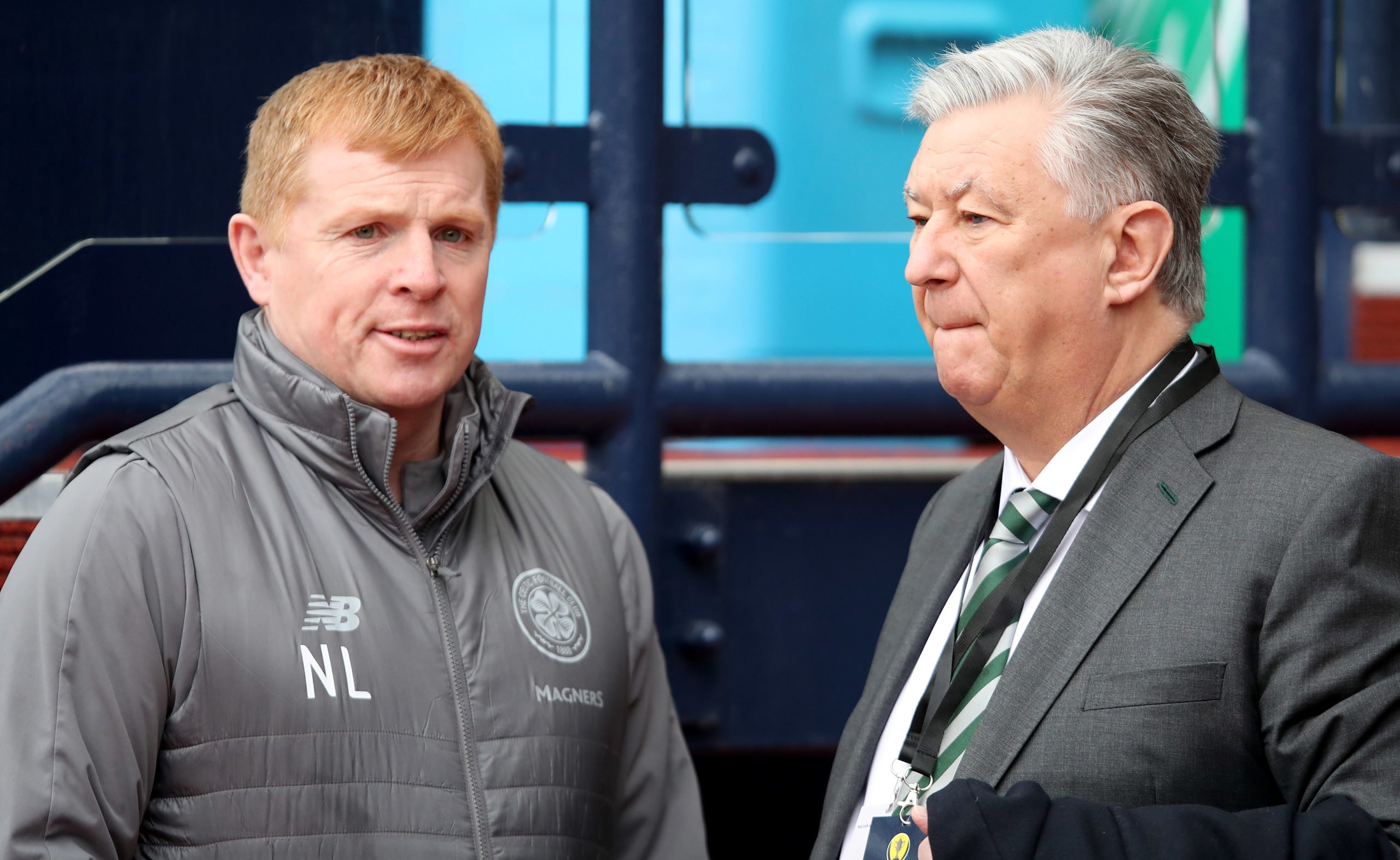 Neil Lennon and Peter Lawwell