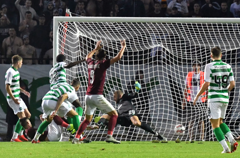 Celtic fell behind in Sarajevo last year