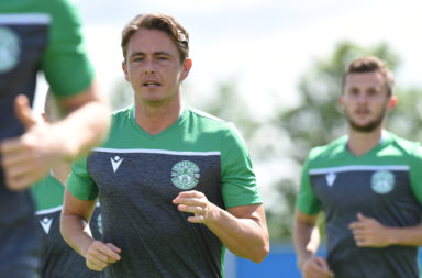 Hibernian attacker Scott Allan