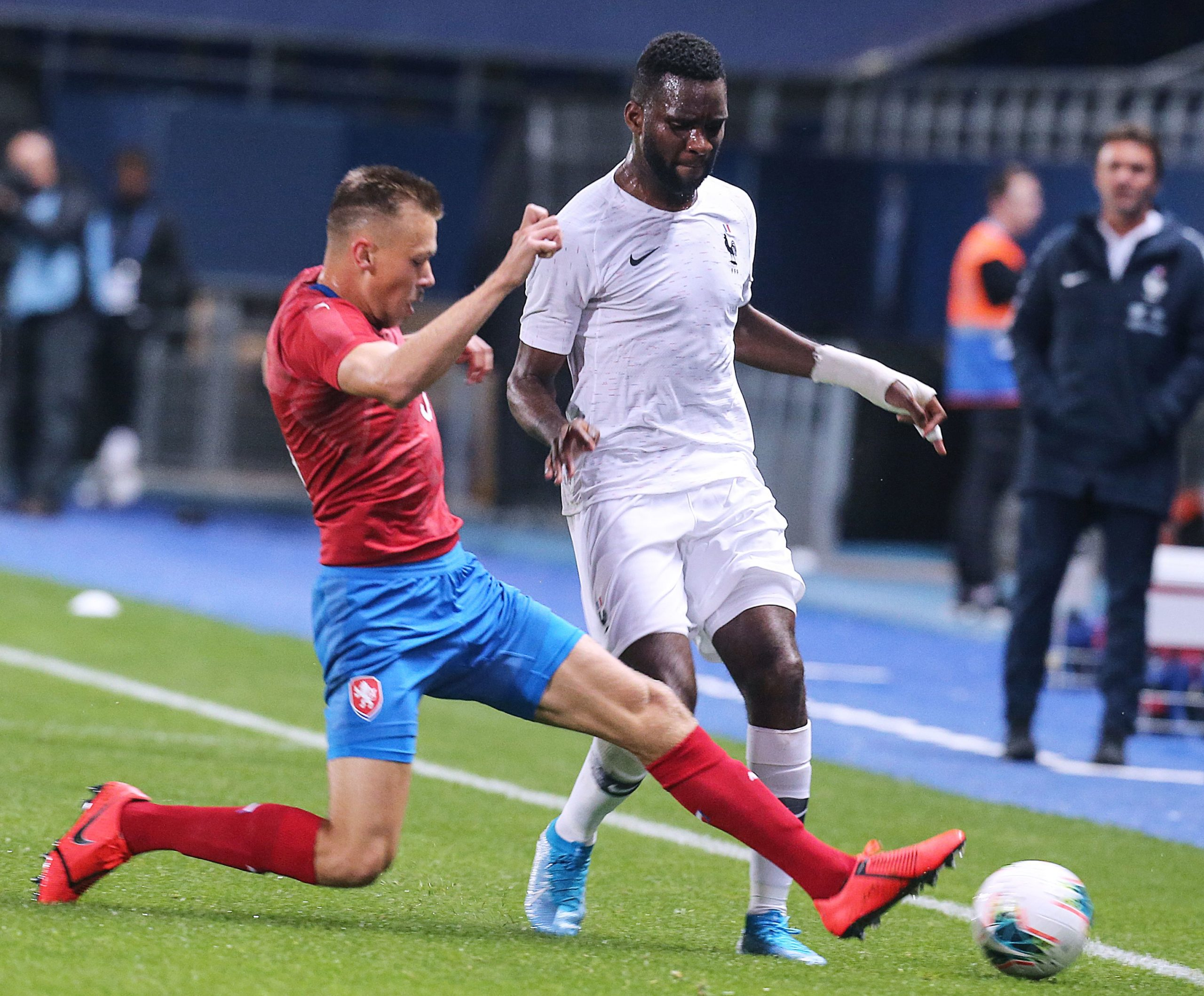 Celtic striker Odsonne Edouard in action for his country