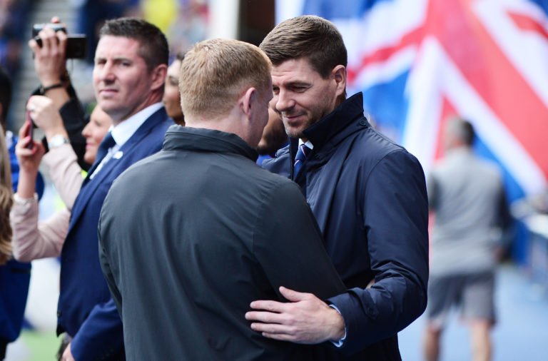 Neil Lennon and Steven Gerrard