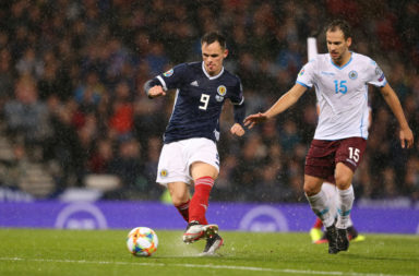 Lawrence Shankland in action for Scotland