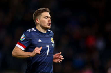 James Forrest playing for Scotland