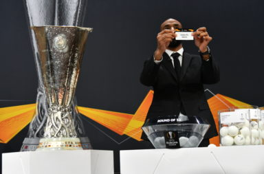The UEFA Europa League draw in Nyon