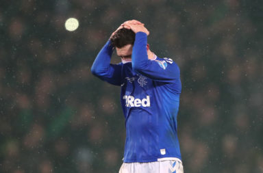 Ryan Jack after a defeat to Celtic