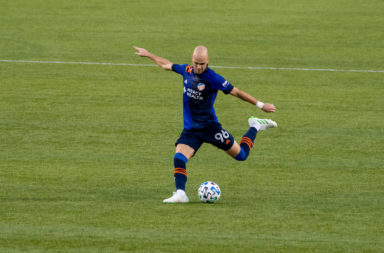 Andrew Gutman in action for FC Cincinnati
