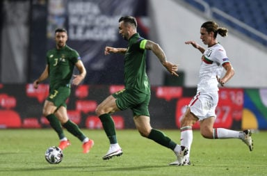 Celtic defender Shane Duffy in action for Ireland