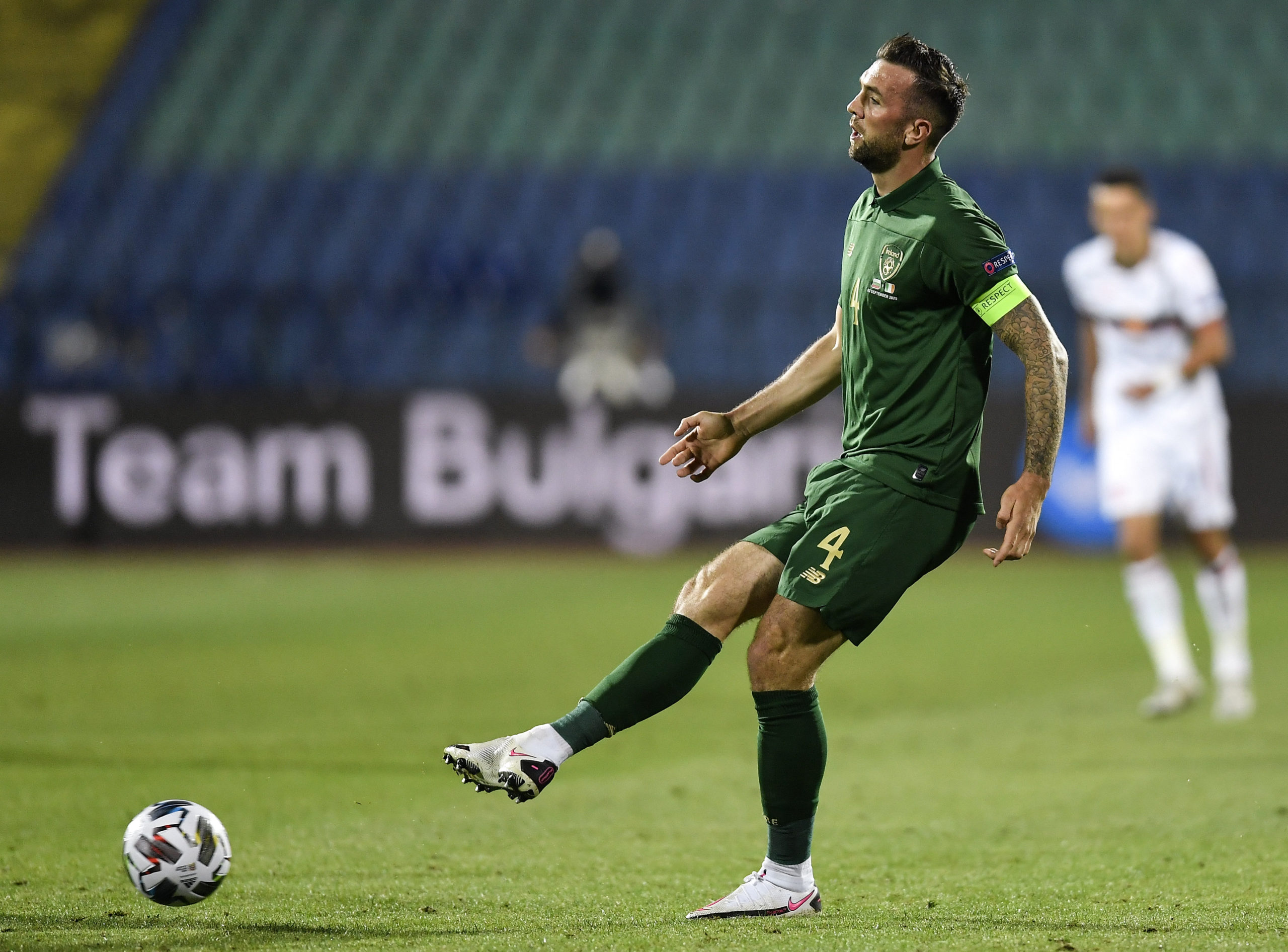 Shane Duffy in action for Ireland