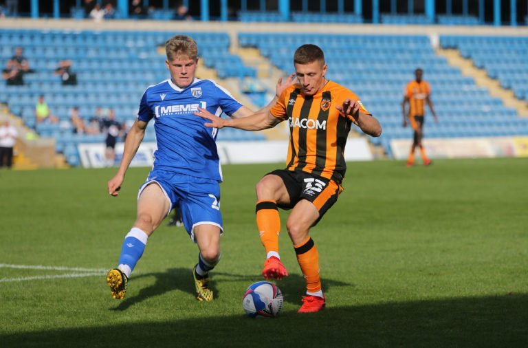 Scott Robertson made his Gillingham debut yesterday on-loan from Celtic
