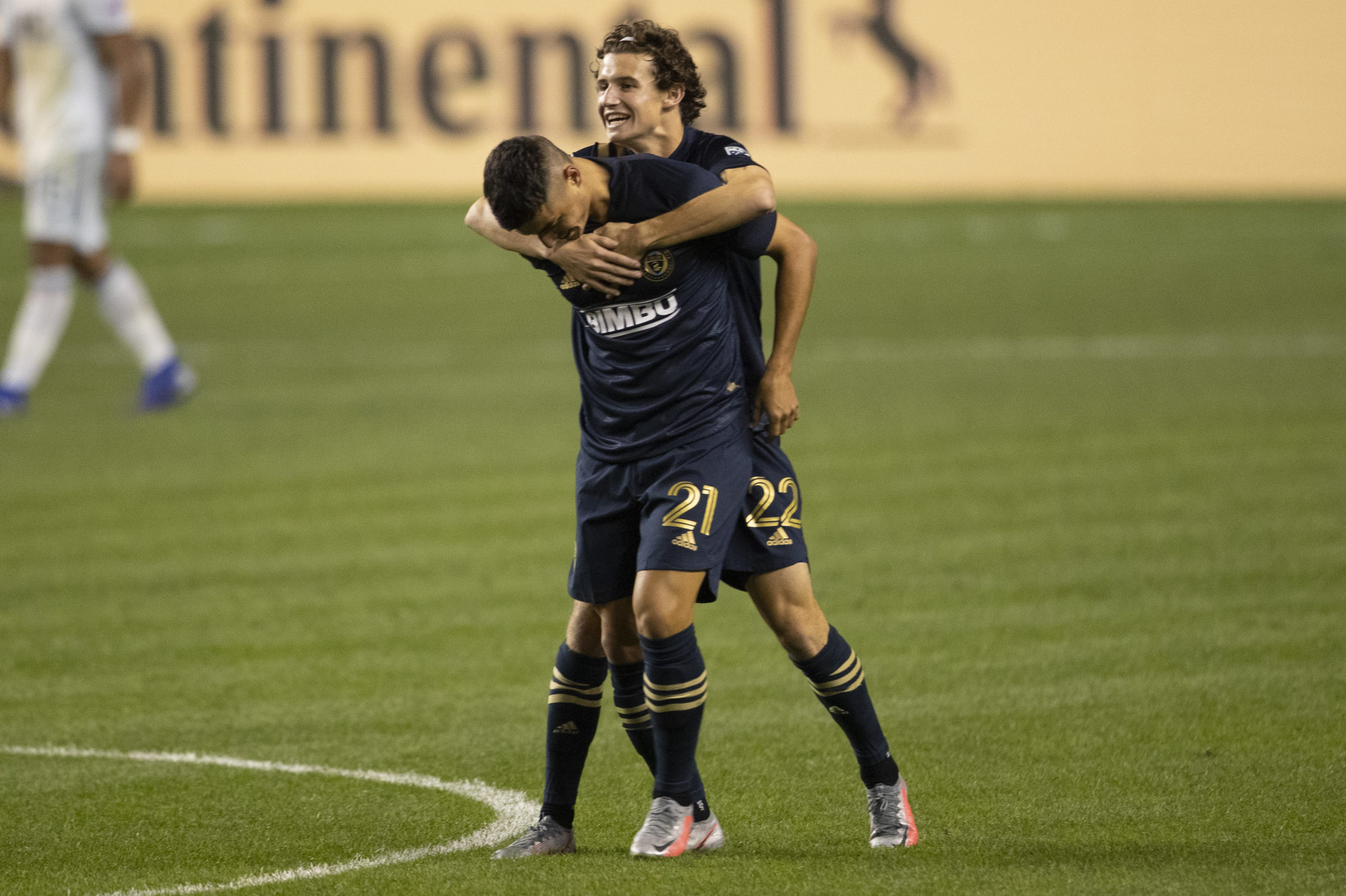 Celtic-linked Brenden Aaronson celebrates scoring for Philadelphia Union