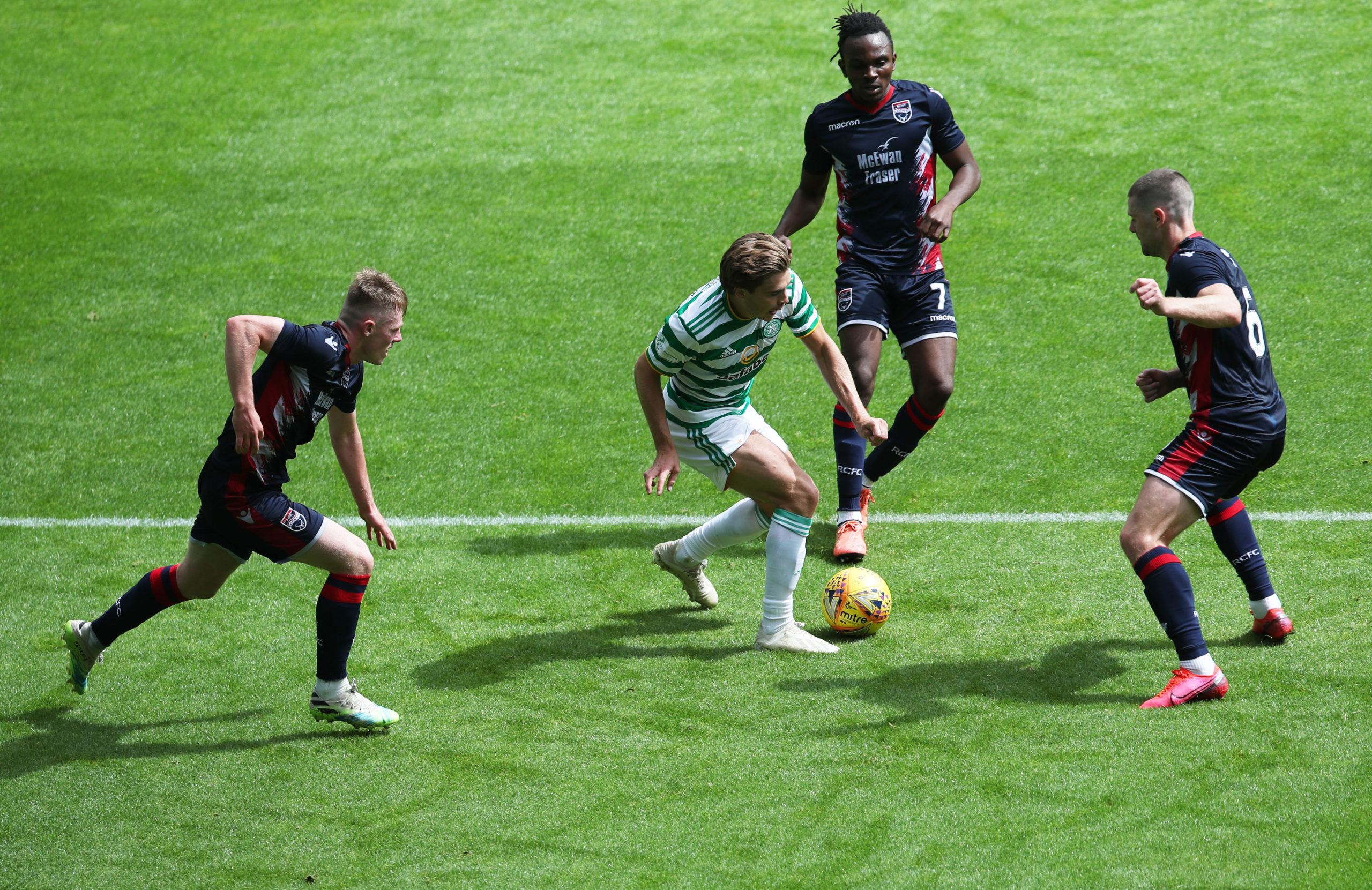Celtic in action against Ross County
