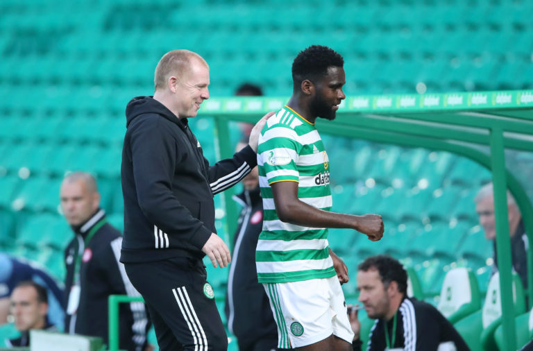Odsonne Edouard with Neil Lennon