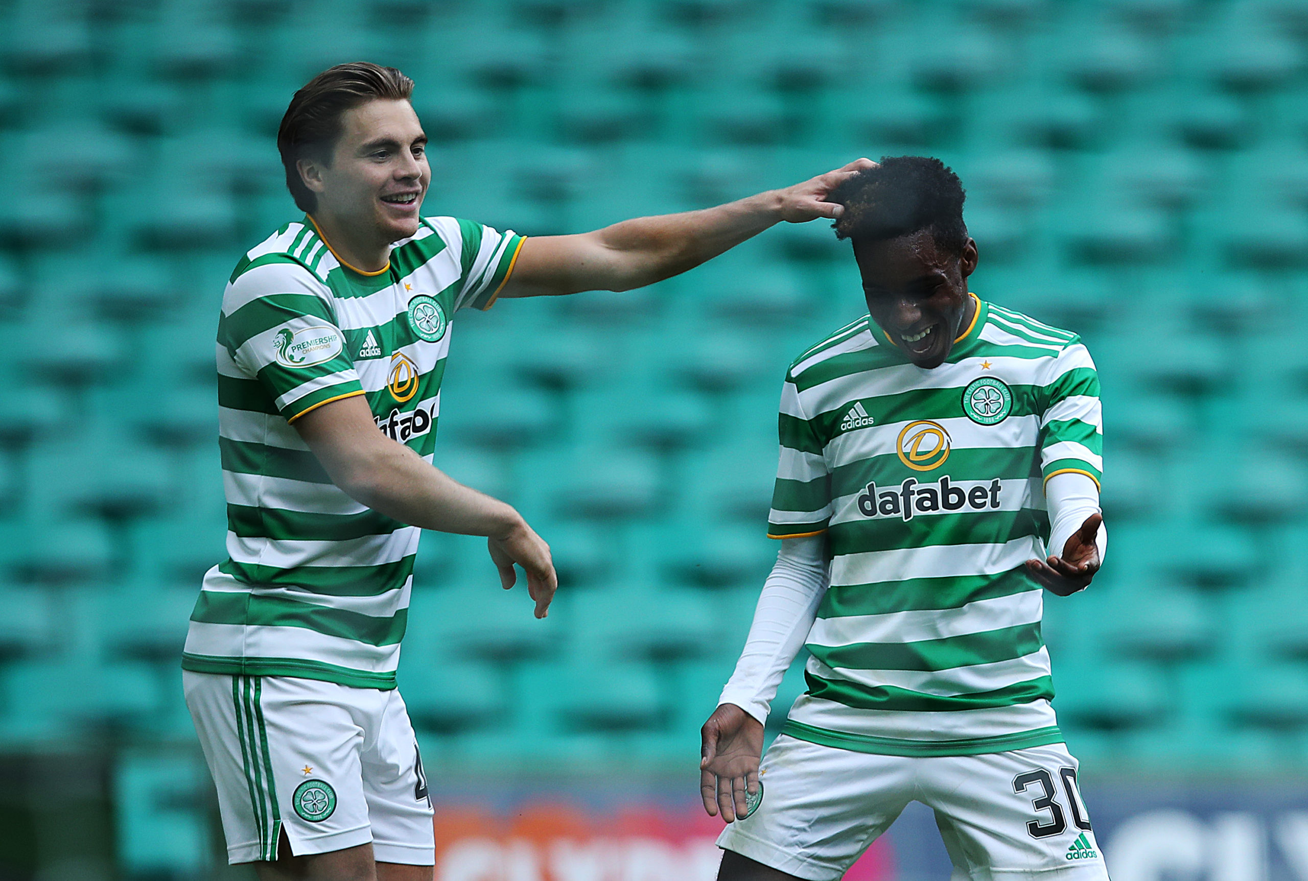 James Forrest and Jeremie Frimpong