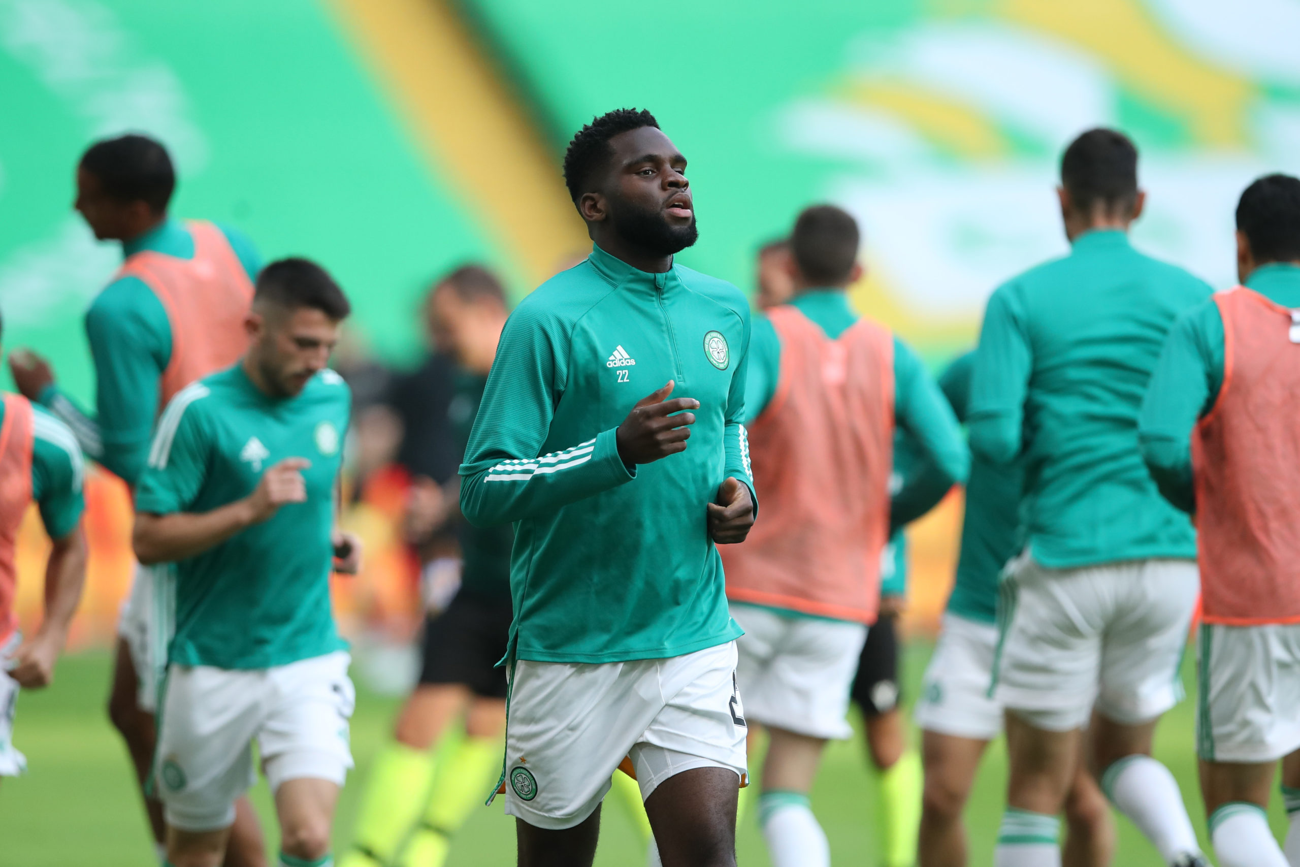 Edouard warms up for Celtic