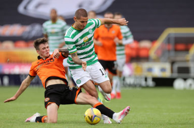 Klimala in action at Tannadice
