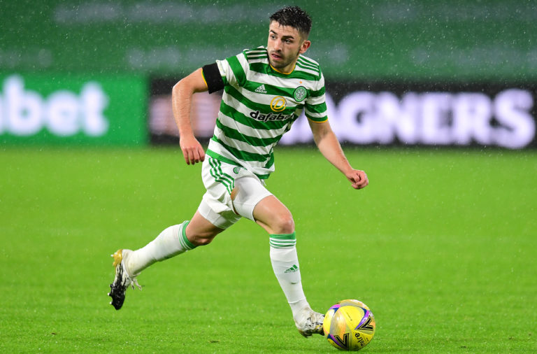 Greg Taylor in action for Celtic