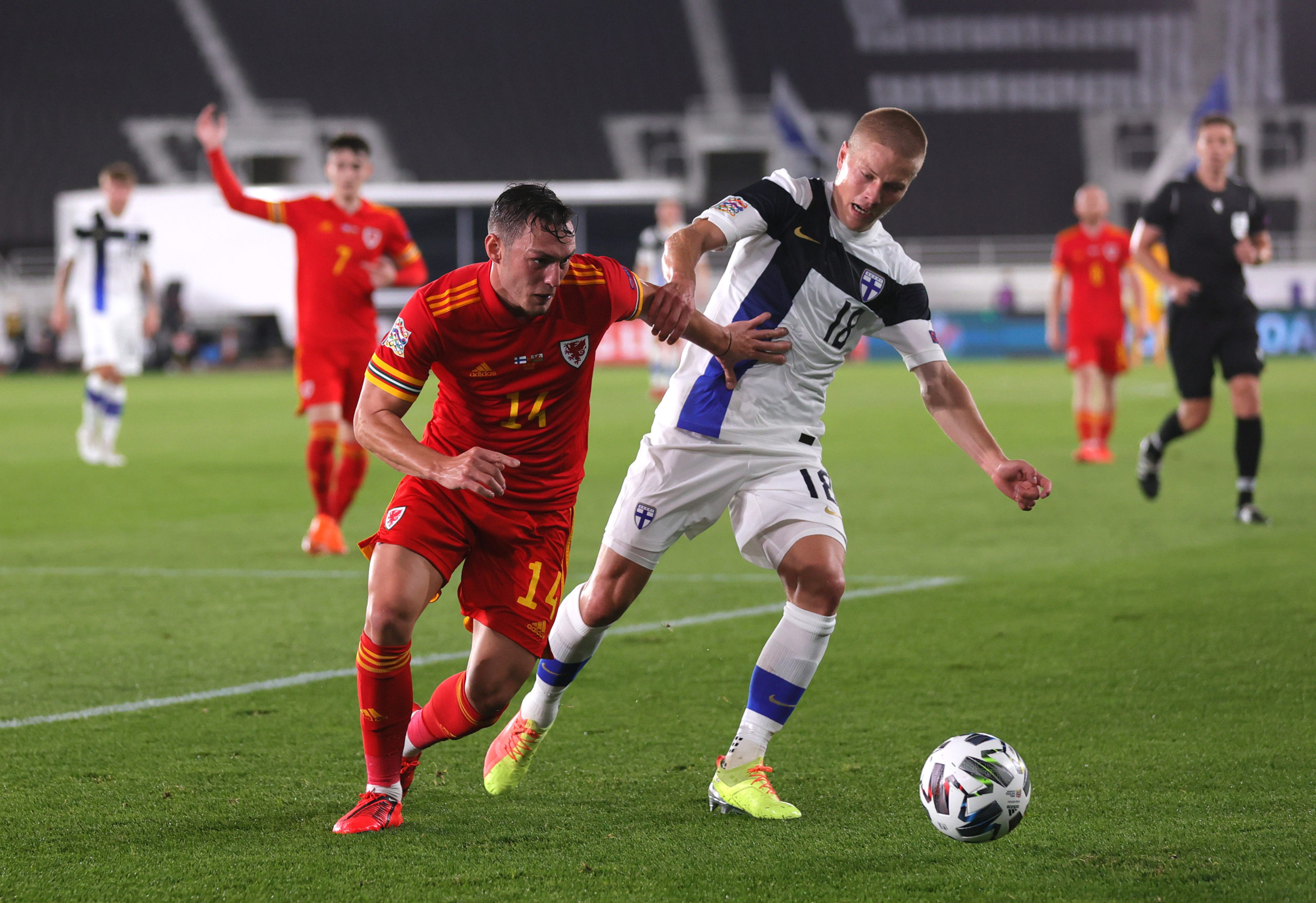 Reported Celtic target Jere Uronen in action for Finland