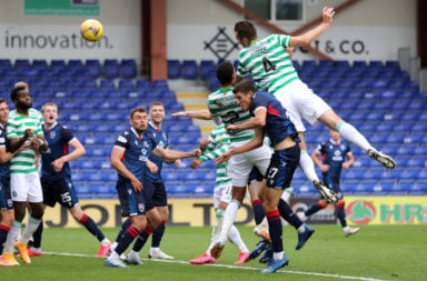 Shane Duffy heads home his first Celtic goal