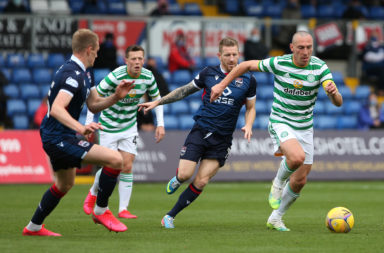 Scott Brown in action against Ross County