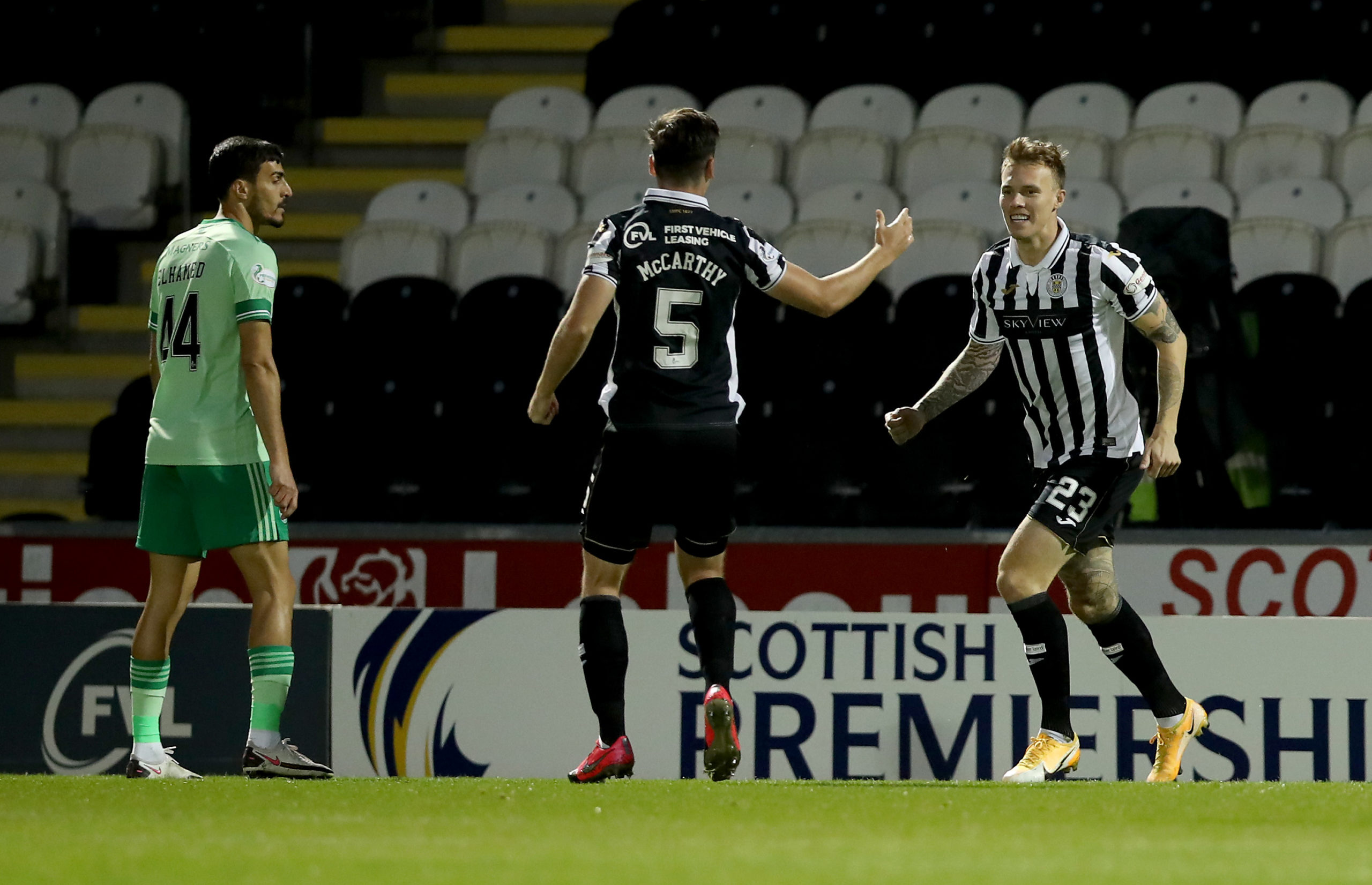 St Mirren netted the opener against Celtic last night