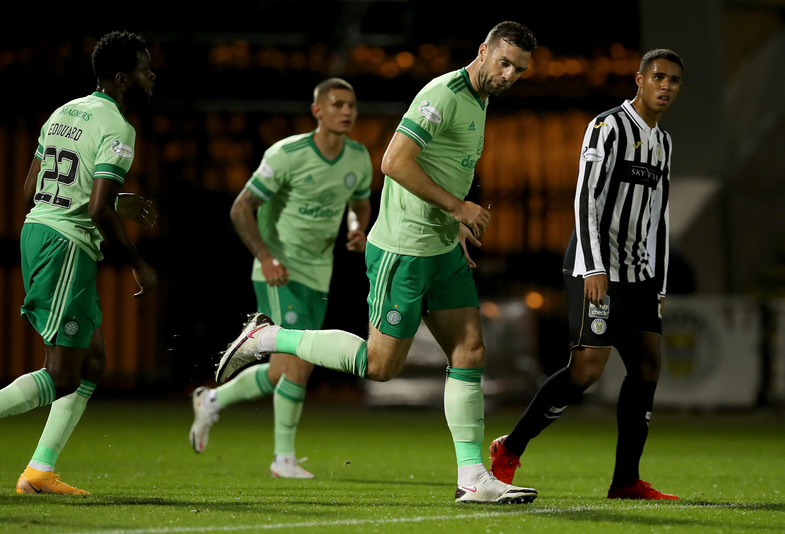 Shane Duffy after scoring for Celtic against St Mirren