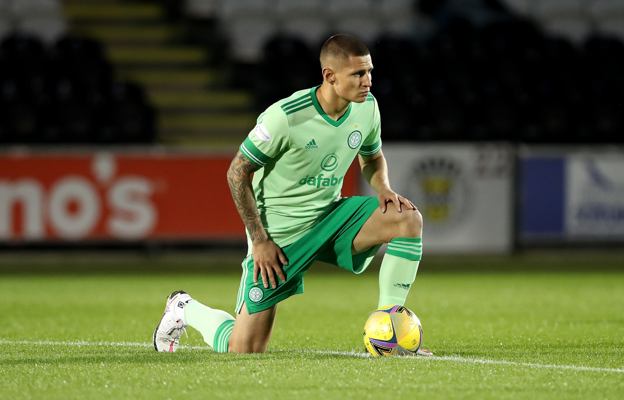 Patryk Klimala before St Mirren vs Celtic