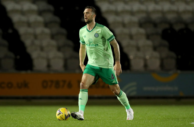 Celtic defender Shane Duffy in action against St Mirren
