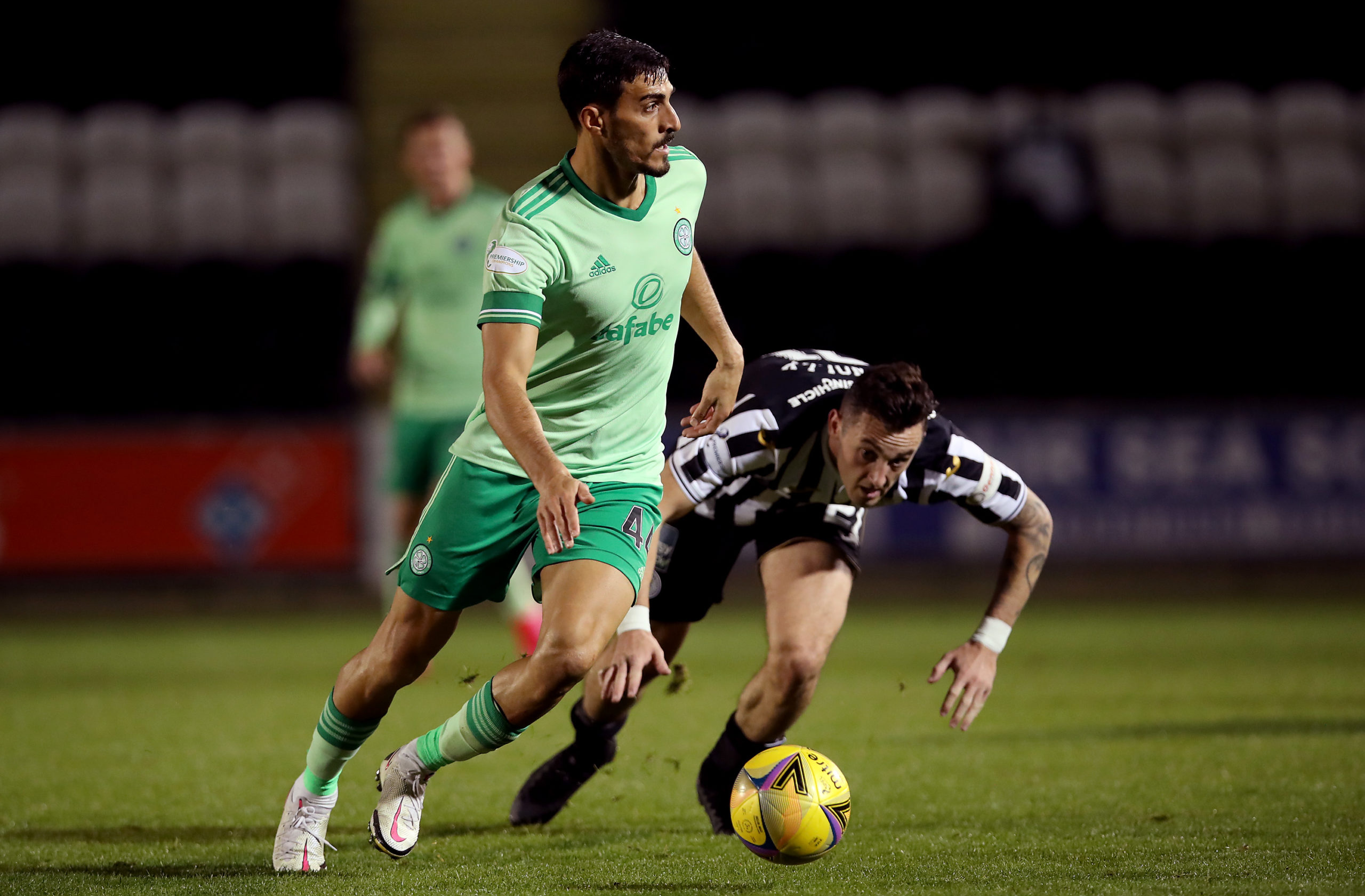 Hatem Elhamed in action against St Mirren