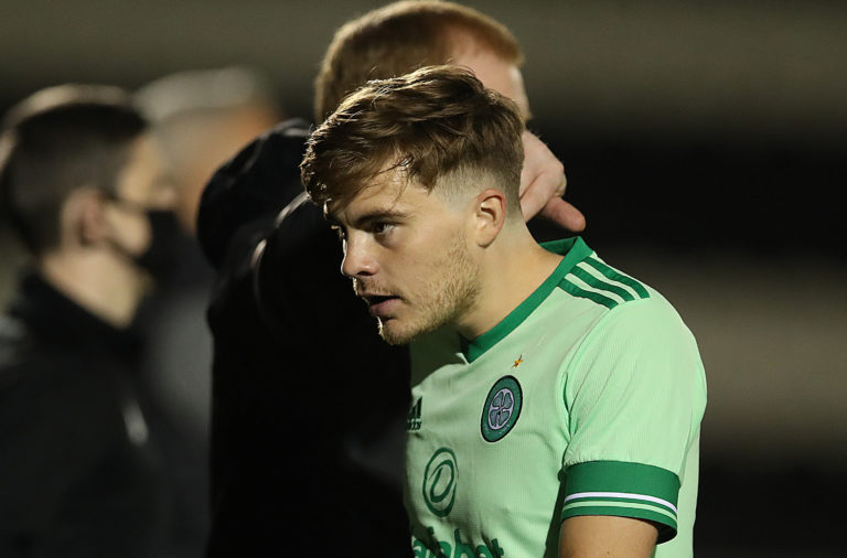 Celtic winger James Forrest netted on Wednesday
