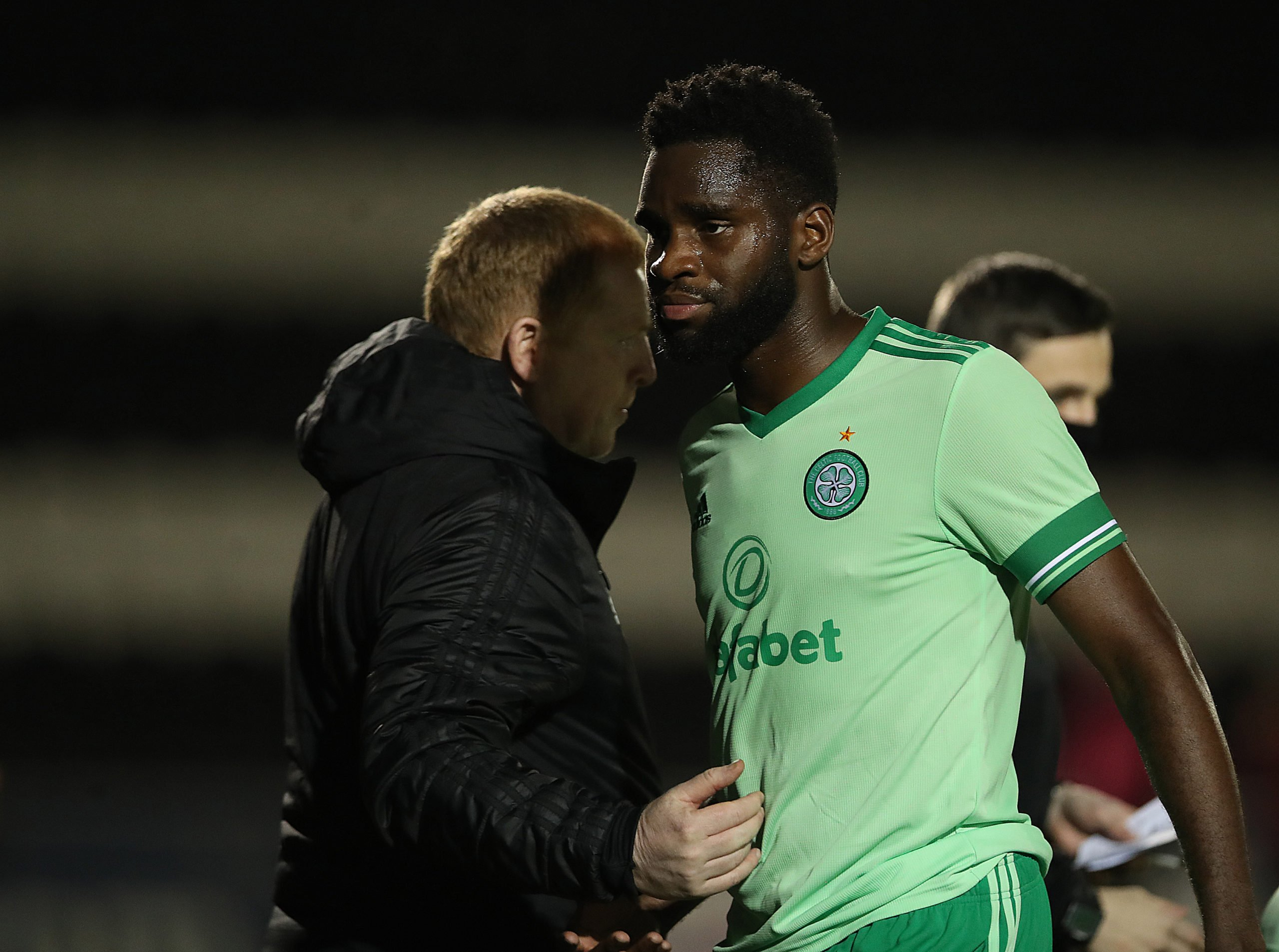 Celtic striker Odsonne Edouard at St Mirren
