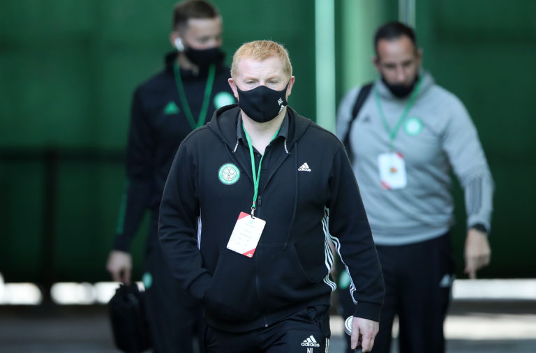 Neil Lennon before today's Celtic match