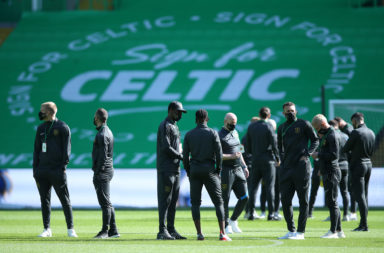 Celtic before today's Livingston match