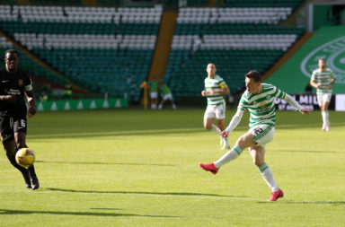 Callum McGregor scores for Celtic