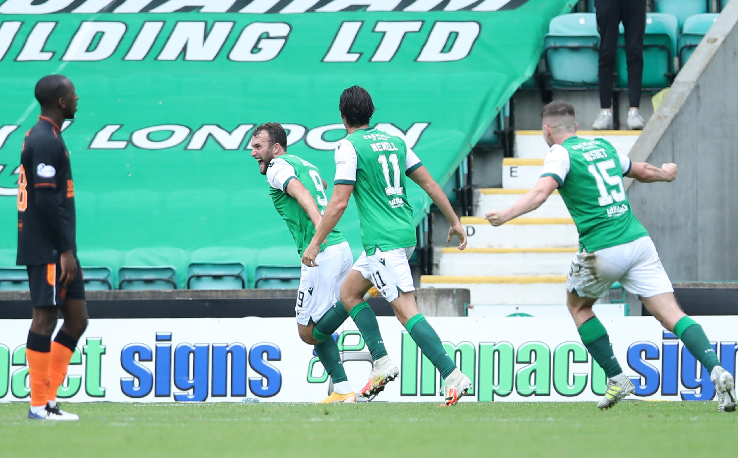Allan missed Hibs' draw with Rangers