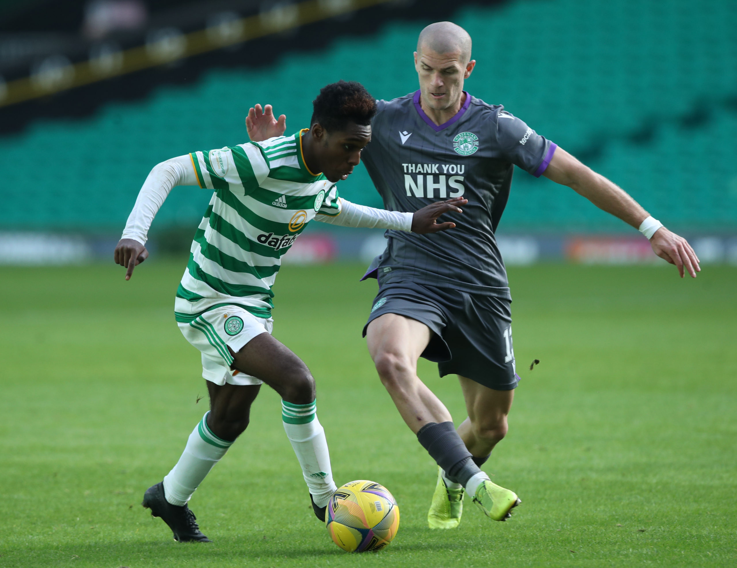 Jeremie Frimpong had too much for Hibs