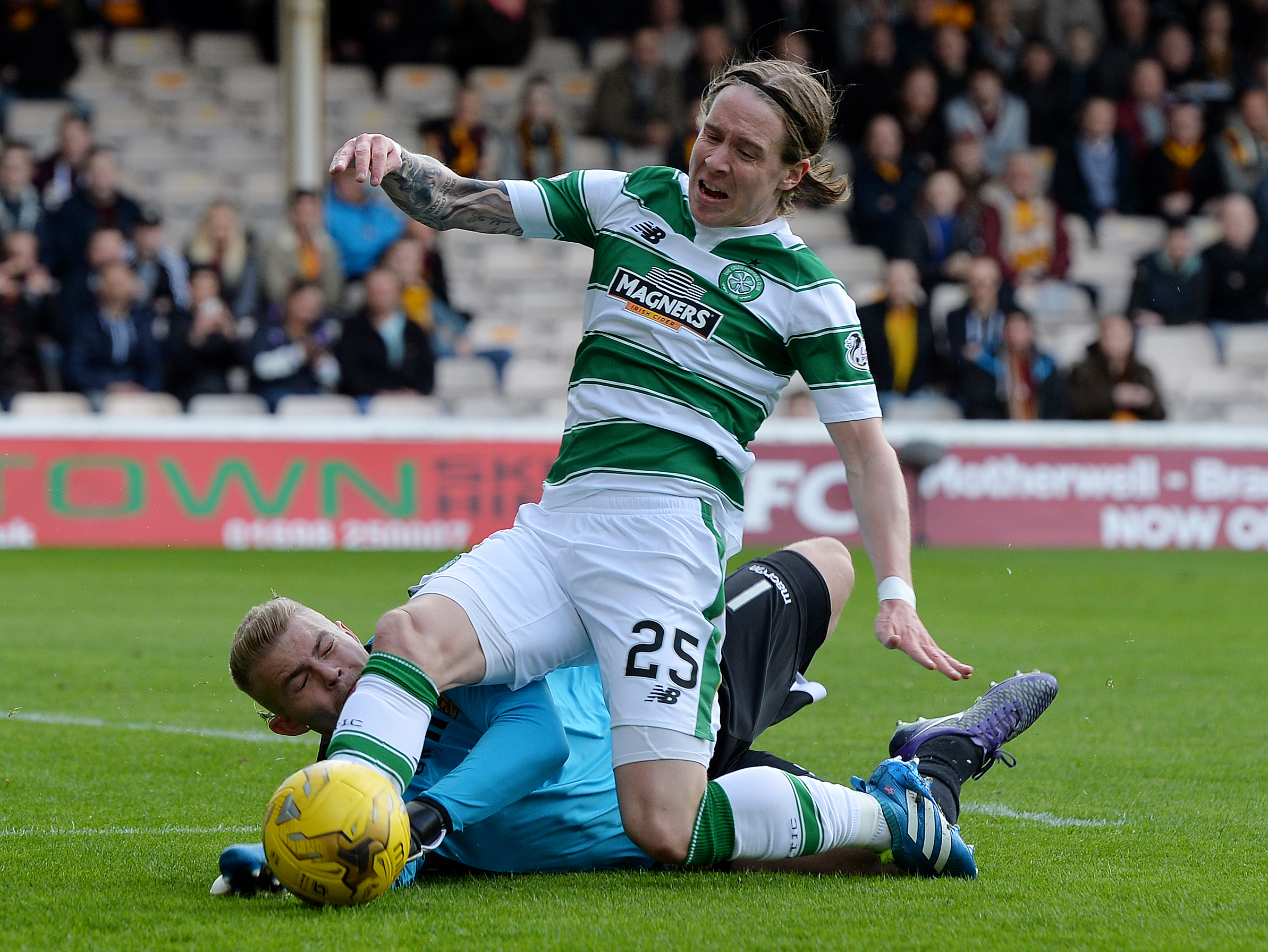 Stefan Johansen was named as Scotland's player of the year in 2015