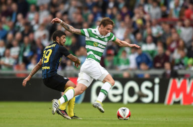 Stefan Johansen in action for Celtic