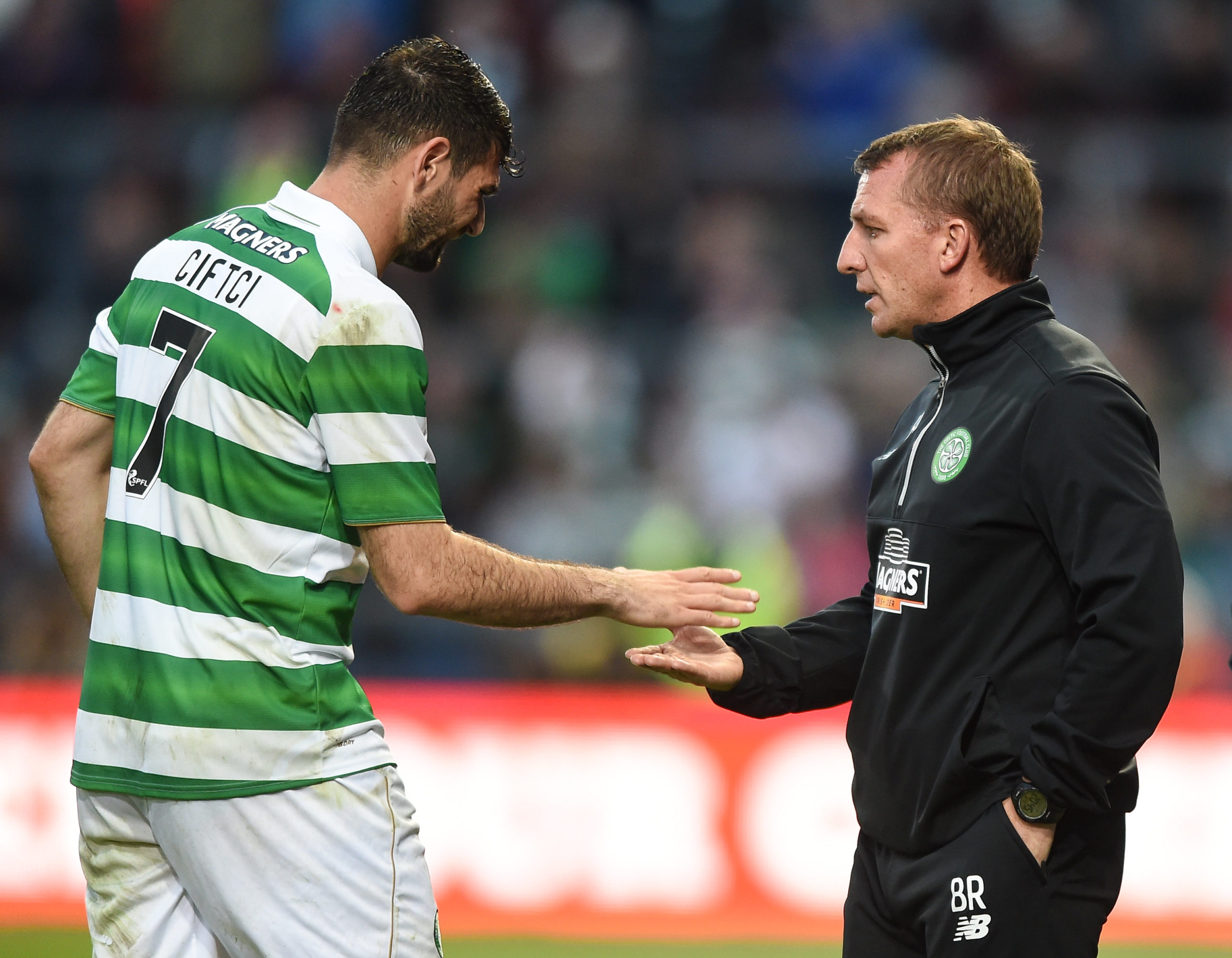 Ciftci with Brendan Rodgers in 2016